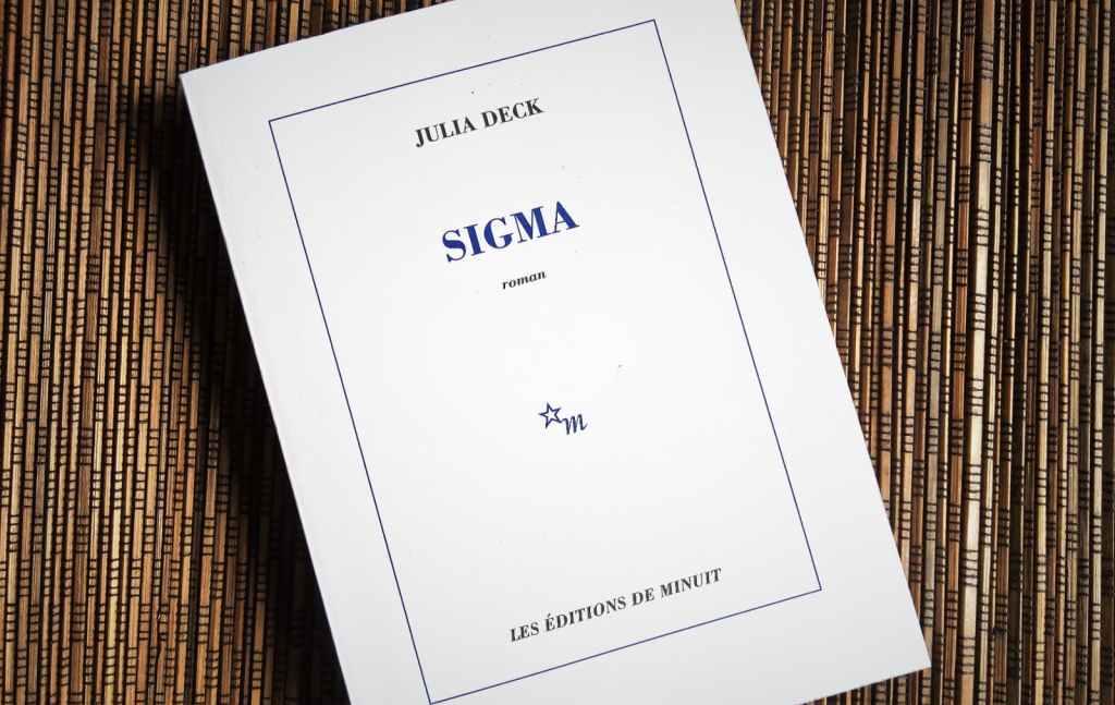 sigma de julia deck aux éditions de minuit