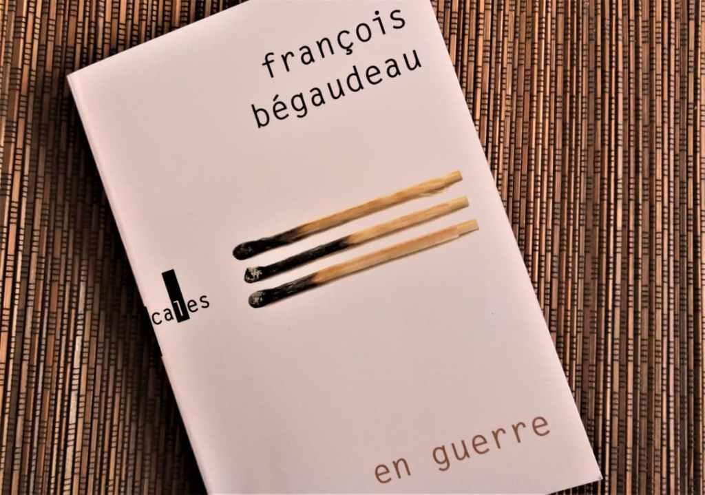 livre 'en guerre' de françois begaudeau éditions verticales