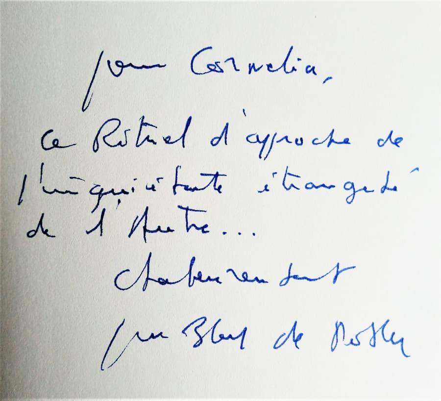 dédicace de Jean-Marie Blas de Roblès