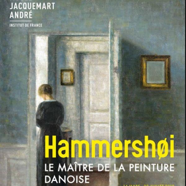 affiche exposition Hammershoi au musée jacquemart andré