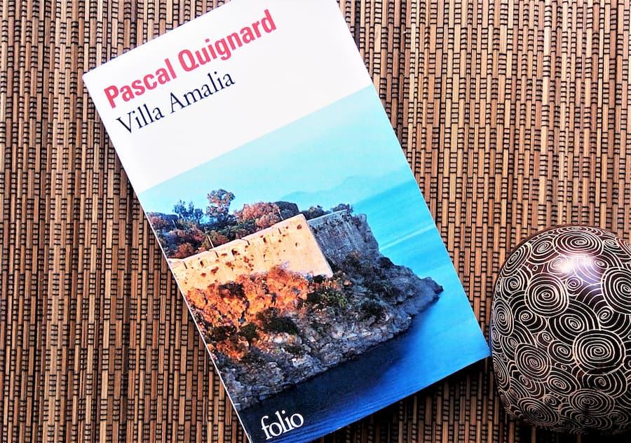 livre villa amalia de pascal Quignard editions  folio