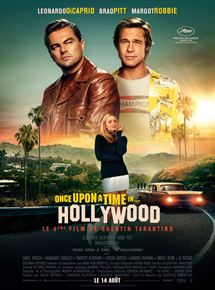 affiche du film 'Once upon a time...in Hollywood' de Quentin Tarantino