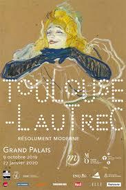 affiche exposition Toulouse-Lautrec au grand palais